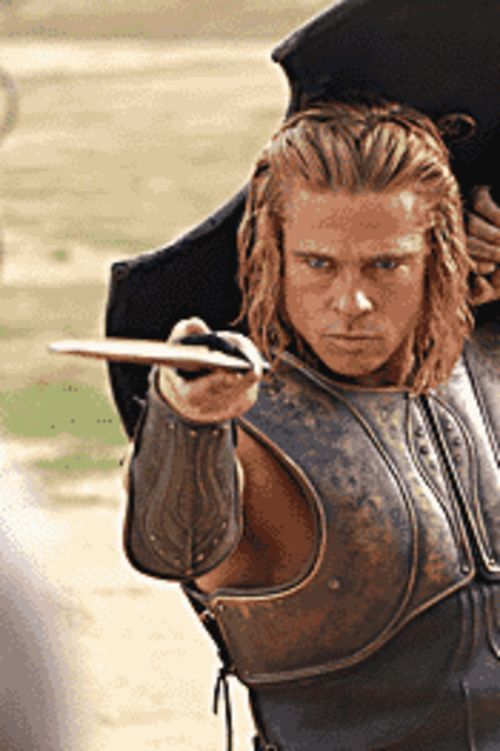 Taking a stab at it: Brad Pitt beds and bleeds many as Achilles in Troy.
