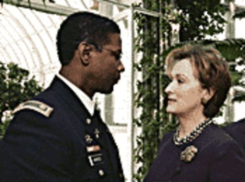 Let's be frank: Denzel Washington takes over the Sinatra role alongside Meryl Streep in The Manchurian Candidate.