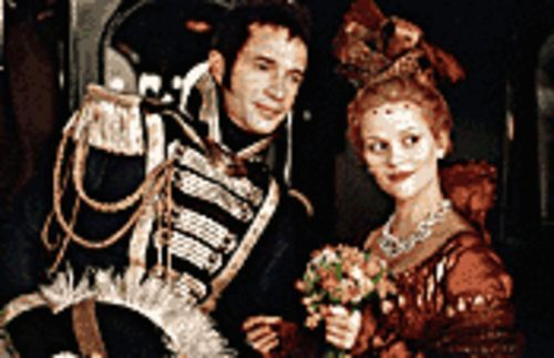 Culture clubbed: Reese Witherspoon (right, with James Purefoy) climbs the social ladder in Vanity Fair.