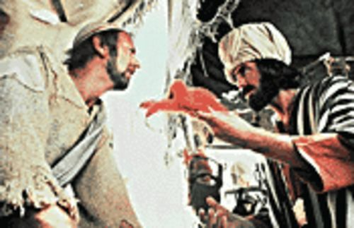 """Brian of Nazareth"": Graham Chapman (left, with Eric Idle) plays the lead role in the classic Monty Python's Life of Brian."