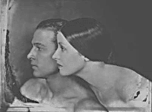 Rudolph Valentino and Natacha Rambova. Her fashion career is highlighted at the Phoenix Art Museum on September 26.
