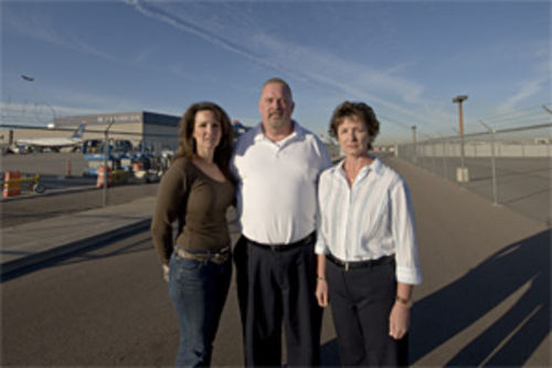 Paula Walker, Brian Shunick, and Sue Burris haven't exactly gotten a hero's welcome at US Airways.