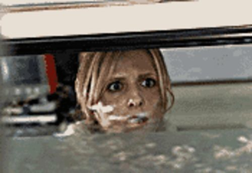 Sarah Michelle Gellar holds off The Grudge.