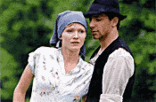 You can take the girl out of the city .  .  . : Anna Geislerová (left, with Ondrej Koval) discovers she must marry a farmer to avoid the Nazis in Zelary.