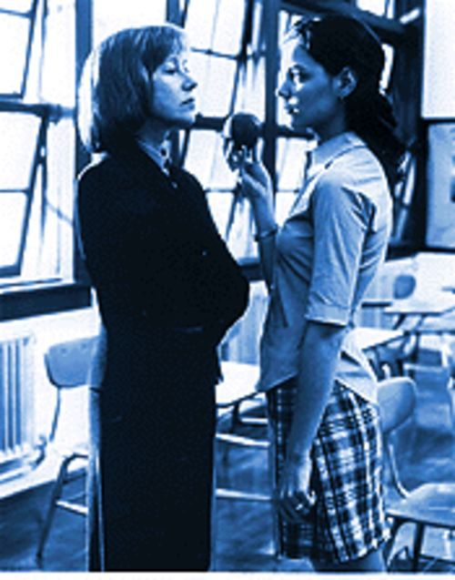 Chalk therapy: Helen Mirren (left) and Katie Holmes in Teaching Mrs. Tingle.