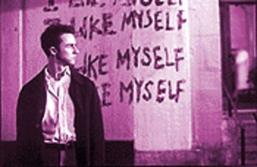 Shiner syndrome: Edward Norton in Fight Club.