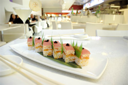 "Hey, good-lookin': Pure's eye-catching ""box sushi."""