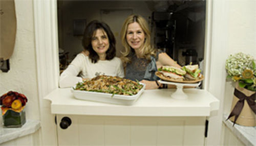 The ladies of Chestnut Lane Café: Marilena Sacks (left) and Polly Levine dish up delicious salads and sandwiches.