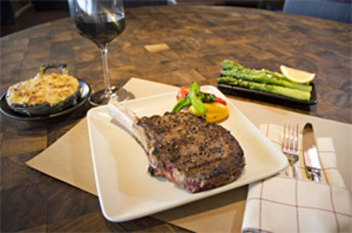 Steak in the heart: The prime rib eye at J&G Steakhouse is easy to love.