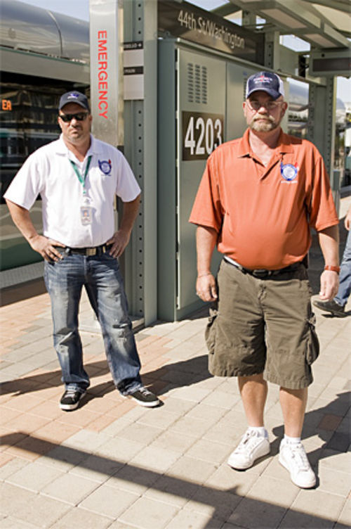 Jim McCubbin (left) and Bob Bean, both officers with the local union representing rail operators, say they have serious concerns.