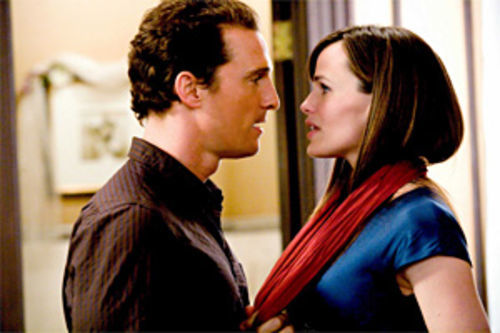 Ghost of a chance: Matthew McConaughey learns a lesson from Jennifer Garner in Ghosts of Girlfriends Past.