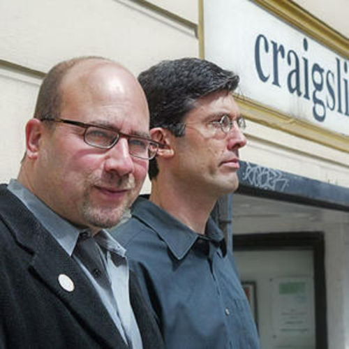 Craigslist creator Craig Newmark and CEO Jim Buckmaster are weathering a storm of criticism.