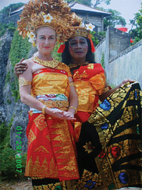 This Balinese wedding photo of Johnson and Imade Ardika was posted on Facebook in February 2009.