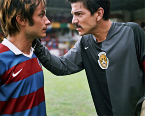 Net effect: Gael García Bernal and Diego Luna turn the sports movie genre on its head in Rudo y Cursi.