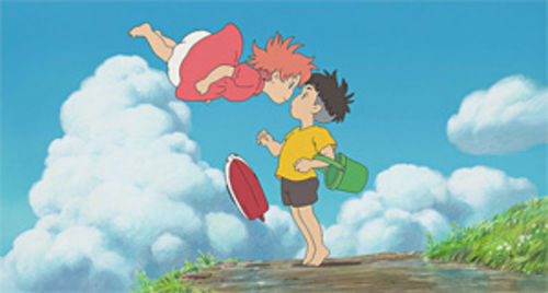 Save the goldfish princess, save the world: A scene from Ponyo.