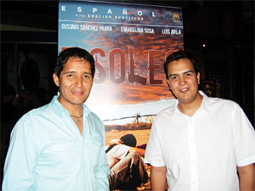 Director Pedro Ultreras (left) and Phoenix actor Luis Avila (several pounds lighter) at a recent screening of Ultreras' gripping film, 7 Soles.
