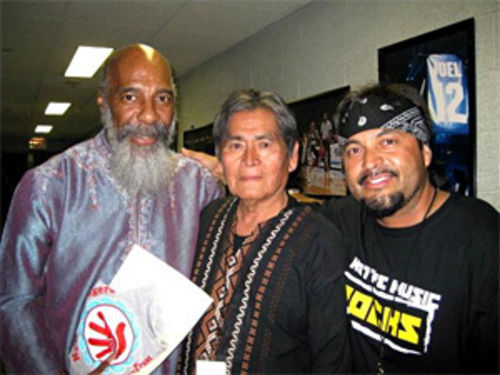 From left to right: Ritchie Havens, former Hopi Tribal chairman Vernon Masayesva, and Casper Lomayesva at Madison Square Garden.
