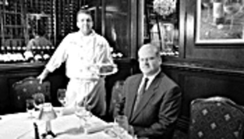 Meat mavens: Executive chef Patrick Bria (left) and  general manager Robert Volpe pimp that prime all the  time at DonovanÂ's.