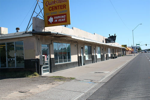 The little strip mall that was, at 11th Street and Indian School.