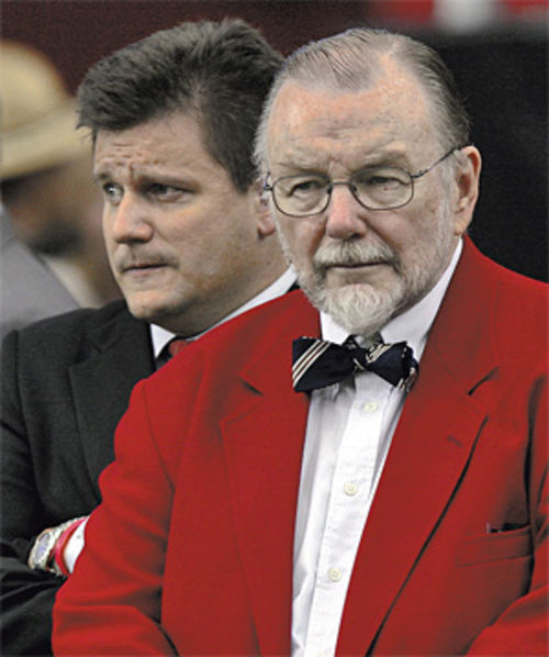 Michael Bidwill (left) appears to have more of a drive to win than his bow-tied father, Bill.