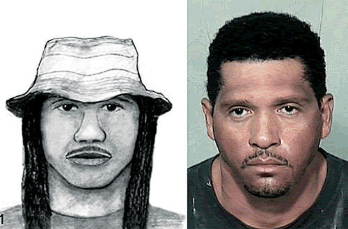 A composite sketch of the Baseline Killer and serial-murder suspect Mark Goudeau after his September 2006 arrest.