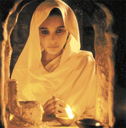 Indian stunner: Lisa Ray portrays a widow shunned by society in Water.