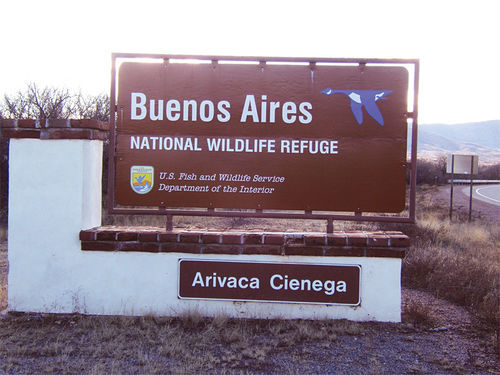 Entrance to the Buenos Aires National Wildlife Refuge.