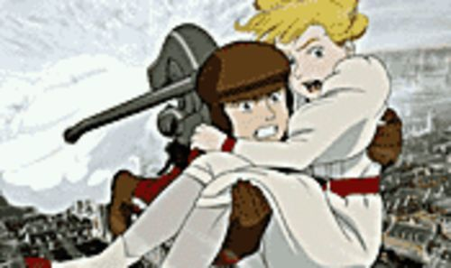 Hot flashes: Boy hero Ray Steam and Scarlett (yes,  O�Hara) in Steamboy.