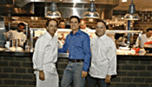 All eyes on the guys: From left,  Chelsea's Kitchen chef and partner Scott Newman, owner Craig DeMarco, and La Grande Orange chef Doug Robson.