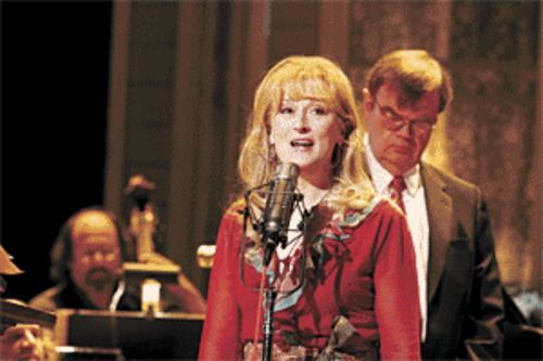 Home cooking: Meryl Streep and Garrison Keillor are among the many characters populating fictional Lake Wobegon in A Prairie Home Companion.