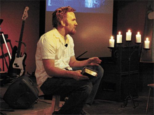 OnePlace pastor Rob Tarr delivers an informal Easter sermon.