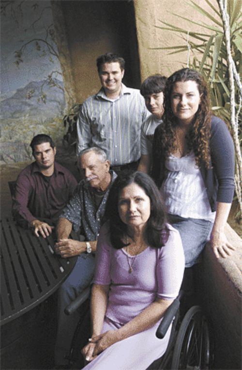 Dennis and Karen Dains (pictured with four of their five children) built Ajo Al's -- and now worry that they'll lose it.