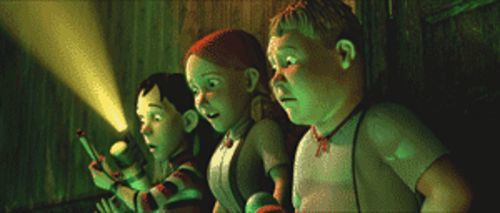 Those meddling kids: From left, DJ, Jenny and Chowder (voiced by Mitchel Musso, Spencer Locke and Sam Lerner, respectively) want to find out what's inside the Monster House.