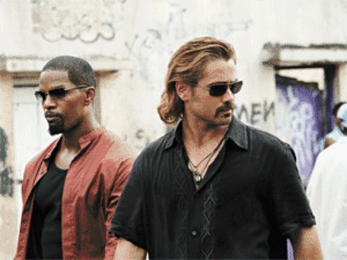 We're not in TV Land anymore: Jamie Foxx and Colin Farrell star as detectives Tubbs and Crockett in Miami Vice.