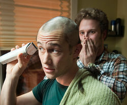 Heady comedy: Joseph Gordon-Levitt and Seth Rogen star in 50/50.