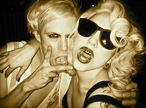 Justin Tranter and Lady Gaga
