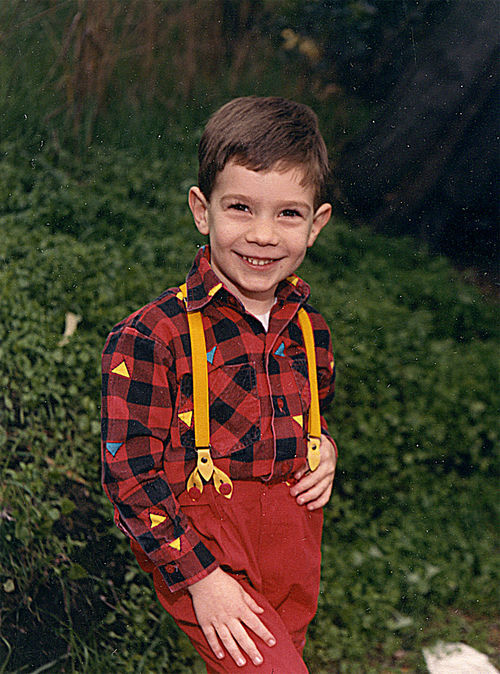 Kevin as a young boy in California.