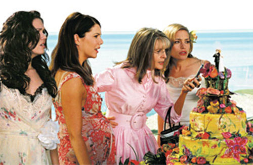 From left, Mandy Moore, Lauren Graham, Diane Keaton, and Piper Perabo in Because I Said So.