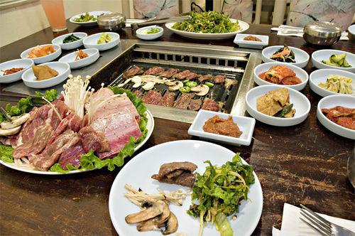 Bring a bunch of hungry friends to Ewha for a filling Korean barbecue feast.