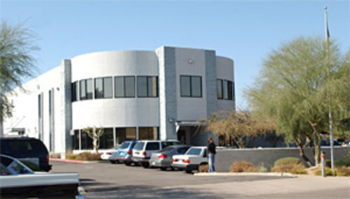 Redflex Traffic Systems processes photo tickets in this nameless north Scottsdale building.
