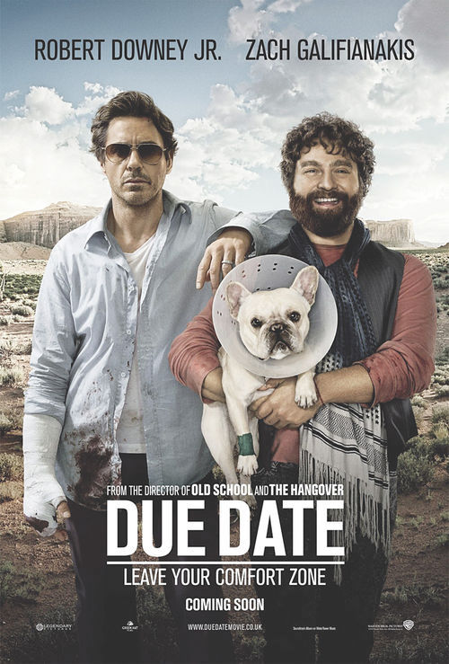 Fast, lazy, out of control: Robert Downey Jr. and Zach Galifianakis go on the road in Due Date.