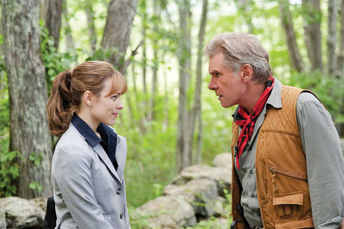 Rachel McAdams and Harrison Ford deliver the newsertainment in Morning Glory.