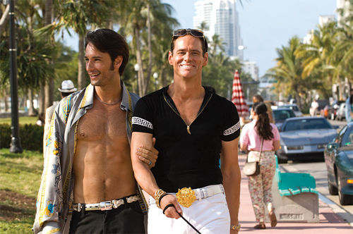 Cruisin': Rodrigo Santoro and Jim Carrey go for a stroll in I Love You Phillip Morris.