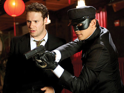 The sting: Seth Rogen and Jay Chou tackle a crime czar in Michel Gondry's The Green Hornet.