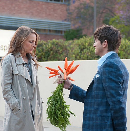 For me??: Natalie Portman and Ashton Kutcher do the dance in No Strings Attached.