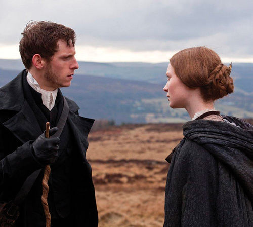 Tragic love: Jamie Bell and Mia Wasikowska hit the right notes in Jane Eyre.