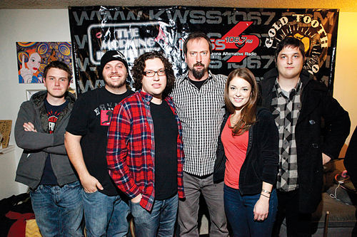 Local band Kinch and former MTV personality Tom Green dropped by The Morning Infidelity on the same day in January.