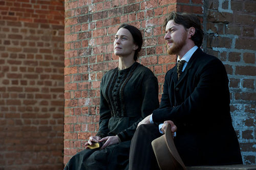 History lessened: Robin Wright and James McAvoy in Robert Redford's flat period piece The Conspirator.