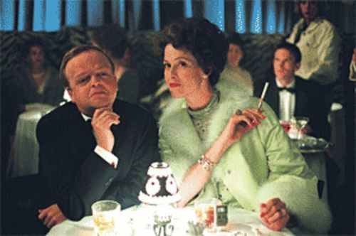 If you can't say antthing nice about somebody, come and sit by them: Toby Jones and Sigourney Weaver talk of the town in Infamous.