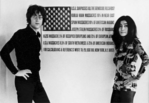 John Lennon and Yoko Ono, in an image from The U.S. vs. John Lennon